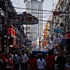 side street in Shanghai shopping area.