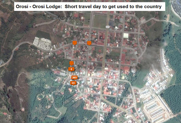 locations of photos take in Orosi