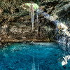Cenote Sambula - Valladolid Yucatán.  There are thousands of these in the Yucatan, and no rivers.