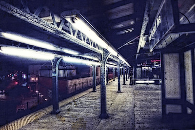 Deserted Gritty Subway Platform (Brooklyn)