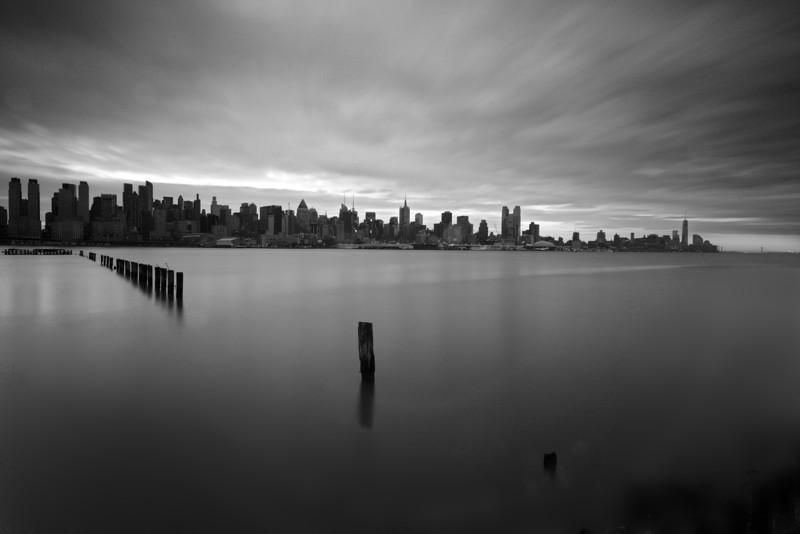 New York Skyline From Riverwalk Place, West New York