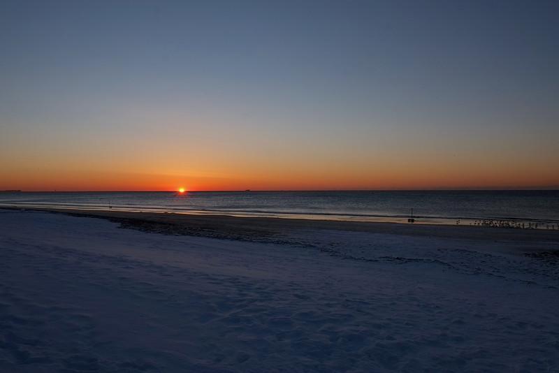 Rockaway beach Winter Sunrise
