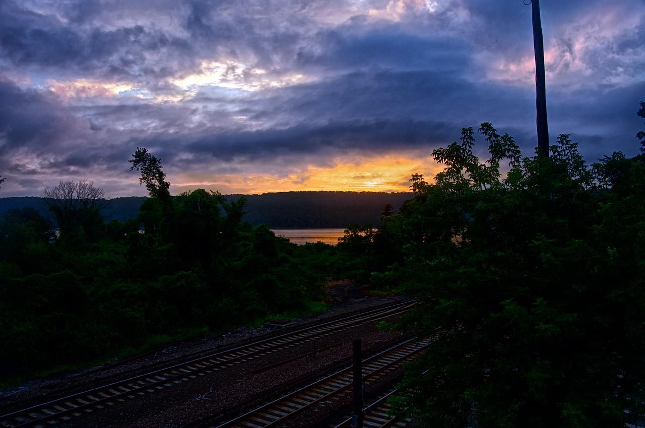 Spuyten Duyvil - Sunset Over The Hudson