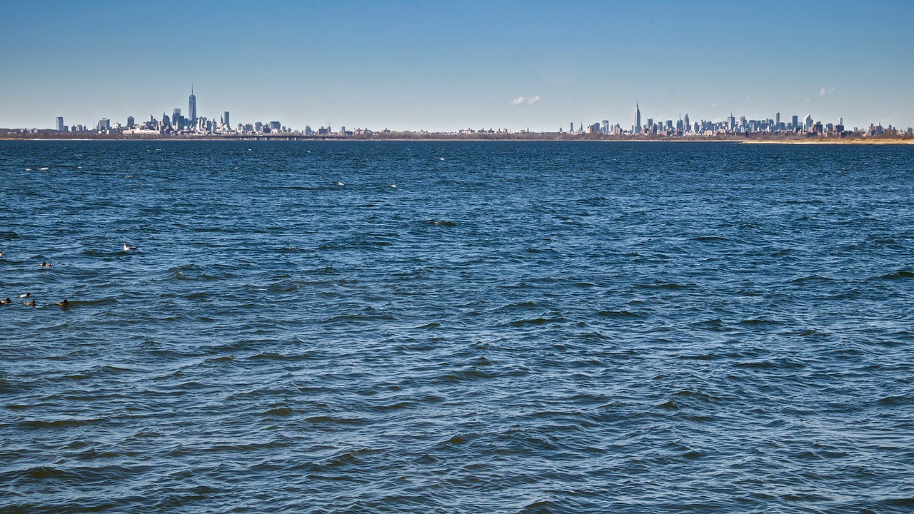 Jamaica Bay and Manhattan Skyline