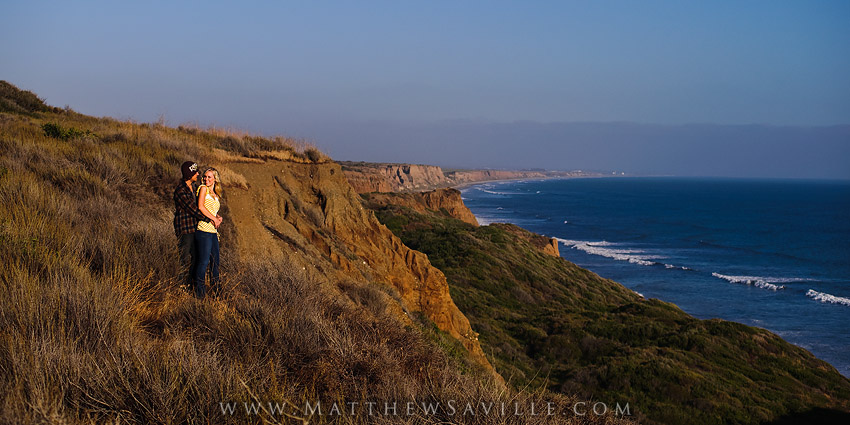 coastal bluffs, sunset portraits