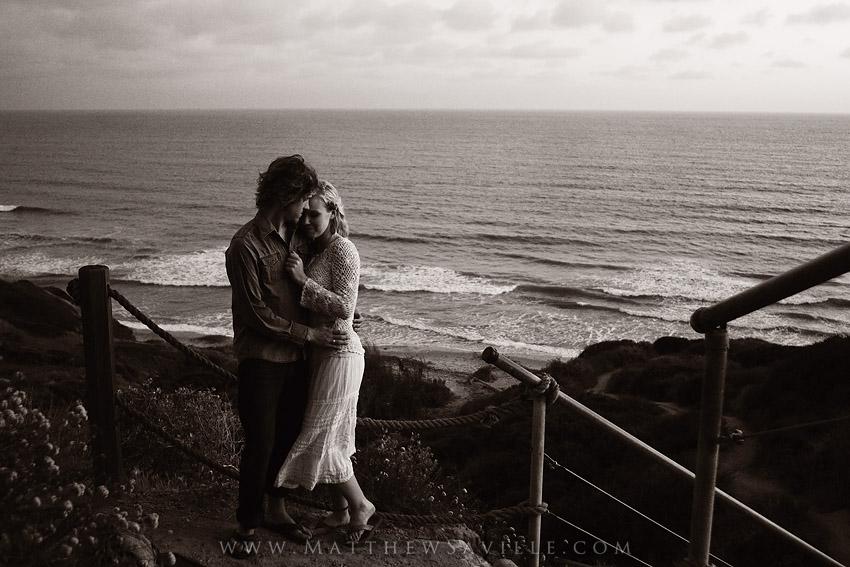 coastal bluffs, dusk, portraits