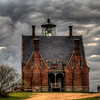 HDR tone mapped photo of the SE lighthouse.  Processed by my brother Ken.  Steve visible in the right.