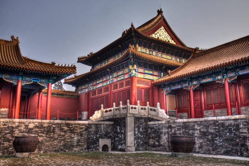inside forbidden city.