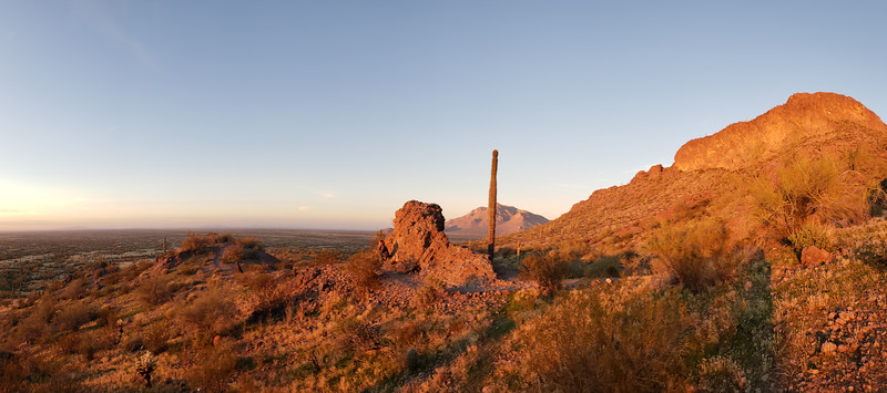 Our last sunset with our RV. Back at Picacho Peak State Park.