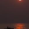 Fishing during sunset, Herring Cove