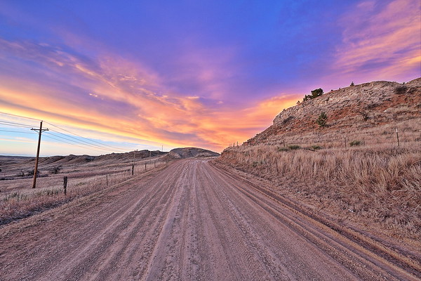 Sunset over Lookout Mountain Road near Spearfish