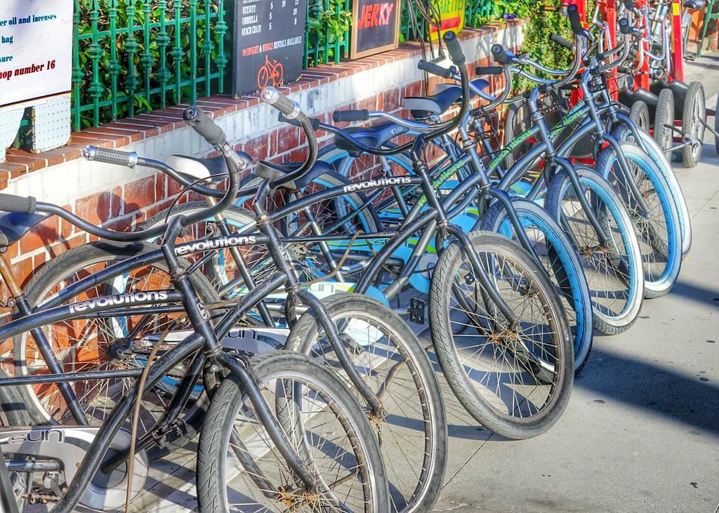 Venice Beach bikes