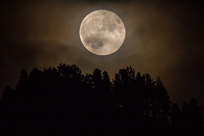 full moon over Lookout Mountain in Spearfish