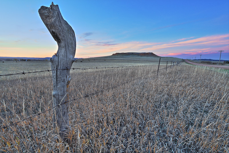 Fence along Red Hill Road west of Spearfish