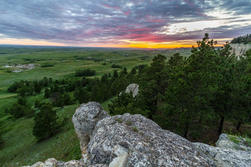 Sunset over Slim Buttes