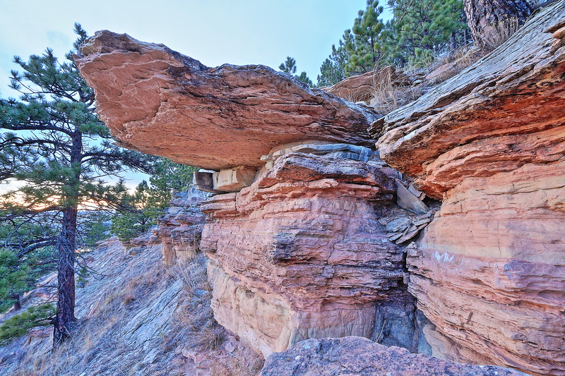 Sandstone outcropping on Lookout Mountain in Spearfish