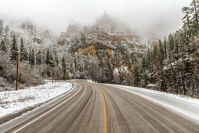 Late spring snow in Spearfish Canyon