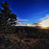Sunset near Lookout Mountain in Spearfish