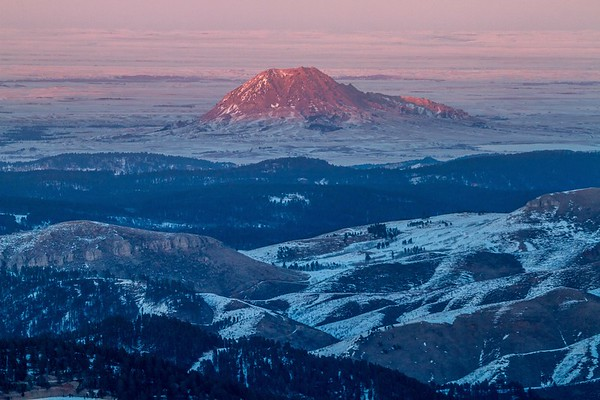 Evening light on Bear Butte viewed from Terry Peak