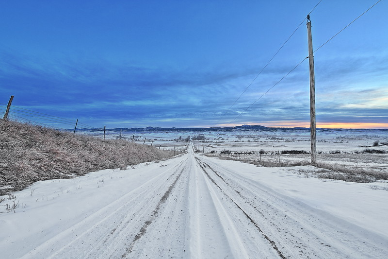 Along Wood Road north of Spearfish