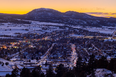 Evening glow over Spearfish