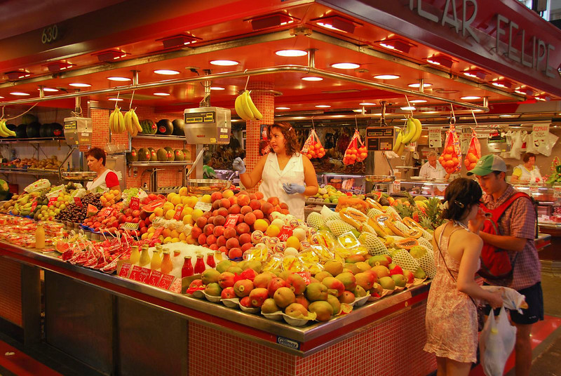 Barcelona fruit stand