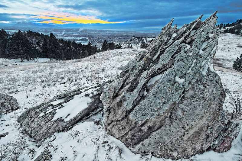 Weathered rock near Lookout Mountain in Spearfish
