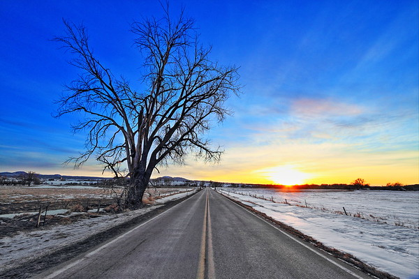 Sunset on Old Belle Road near Spearfish
