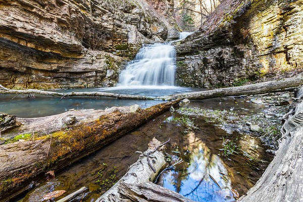 Waterfall above Bridal Veil Falls in Spearfish Canyon