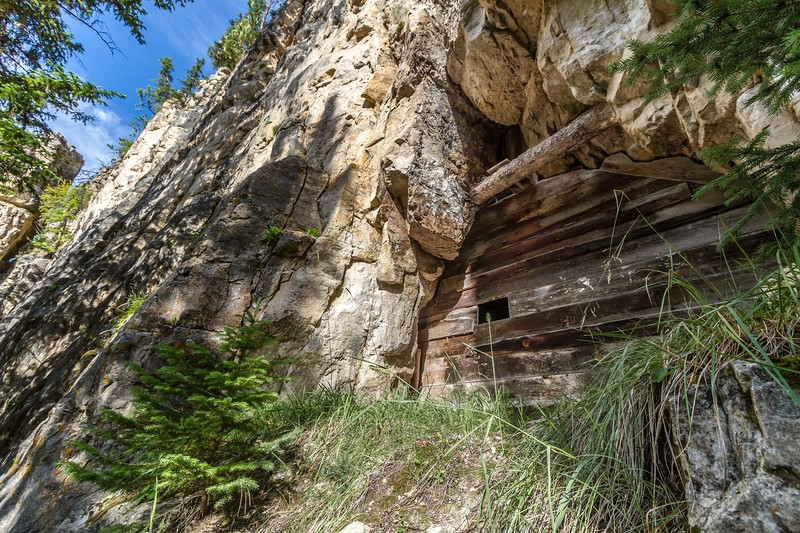 Aqueduct tunnel in Spearfish Canyon