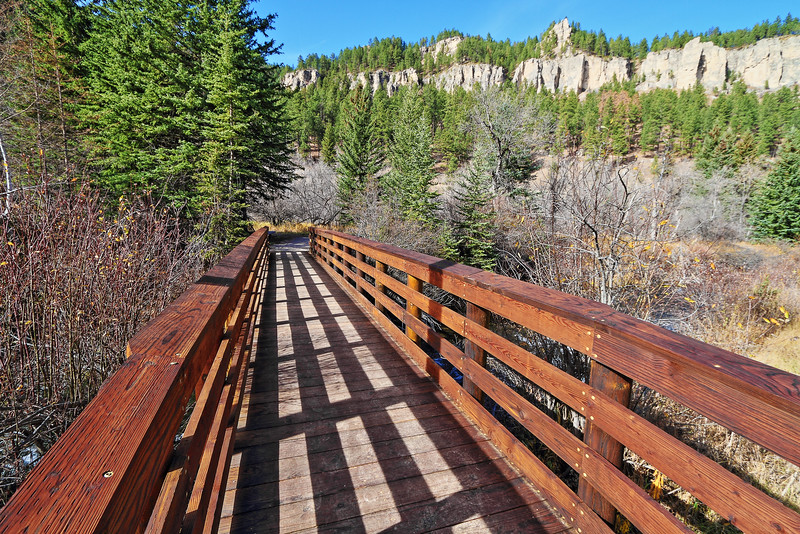 Bridge along the Spearfish Falls Trail in Spearfish Canyon