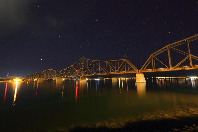 Train bridge in Pierre