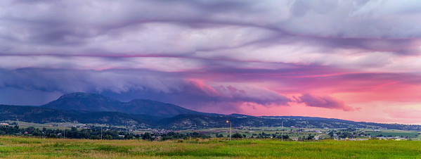 Storm and sunset over Spearfish