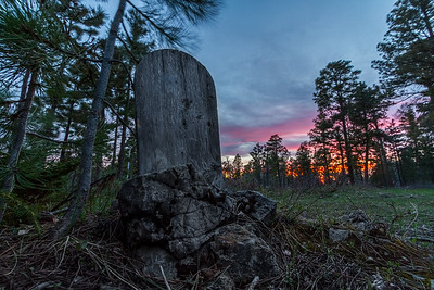 Sunset over Carbonate Cemetery