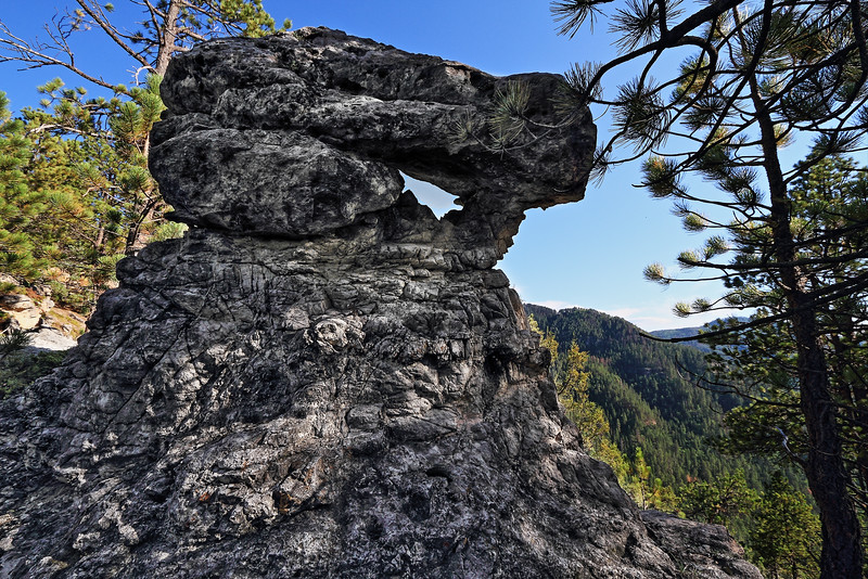 Rock formation along Rimrock in Spearfish Canyon