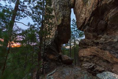 Arch along Iron Mountain Road