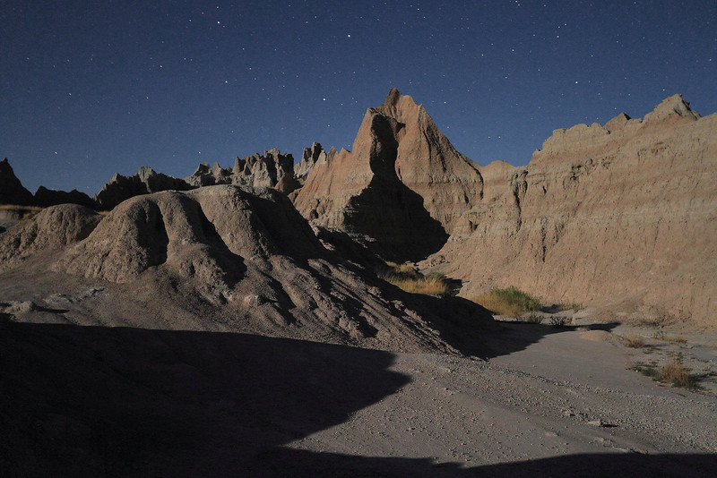 Badlands in the moonlight
