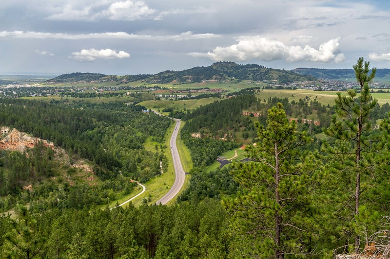Overlooking Spearfish from Spearfish Canyon