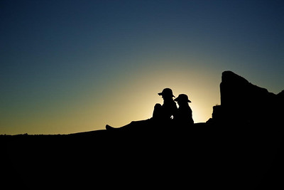Silhouettes at Canyonlands