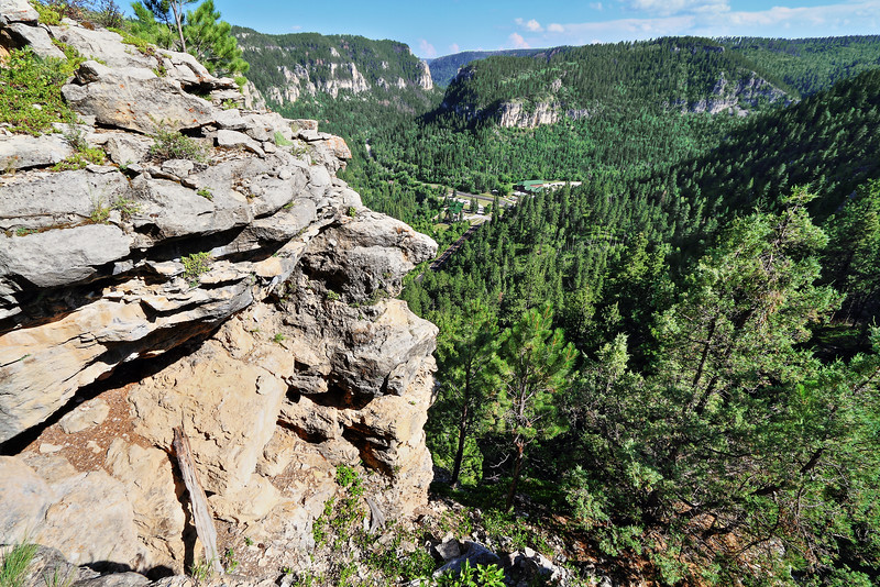 Overlooking Savoy in Spearfish Canyon from the Trail of 76