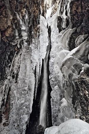 Ice behind Sylvan Lake