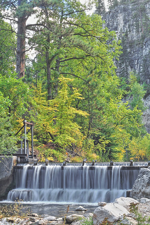 Water diversion in Spearfish Canyon