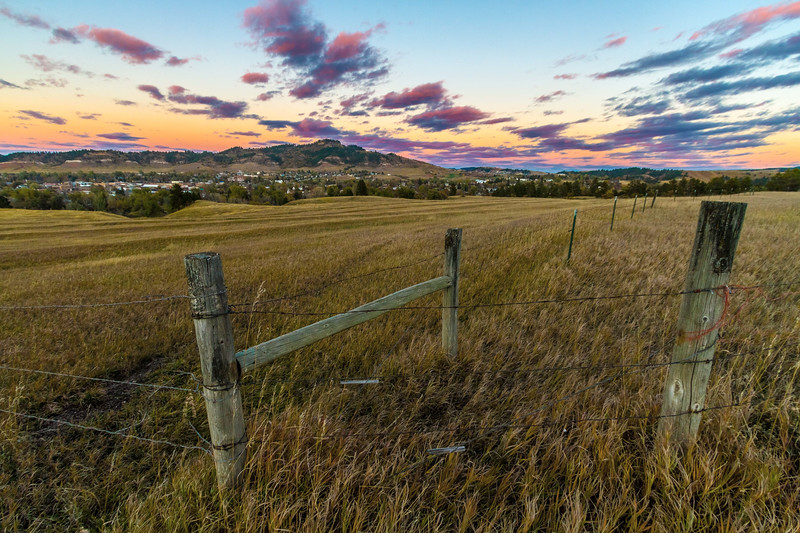 Evening sky over Spearfish