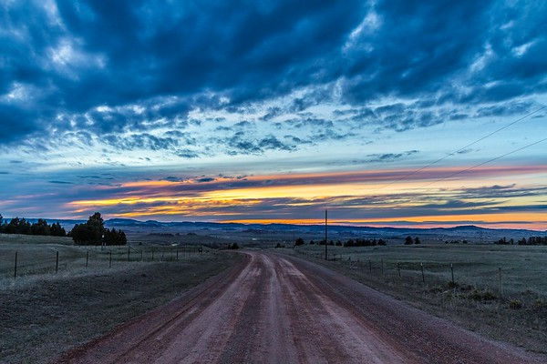 Homestake Road west of Spearfish