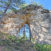 Arch in Vanocker Canyon south of Sturgis