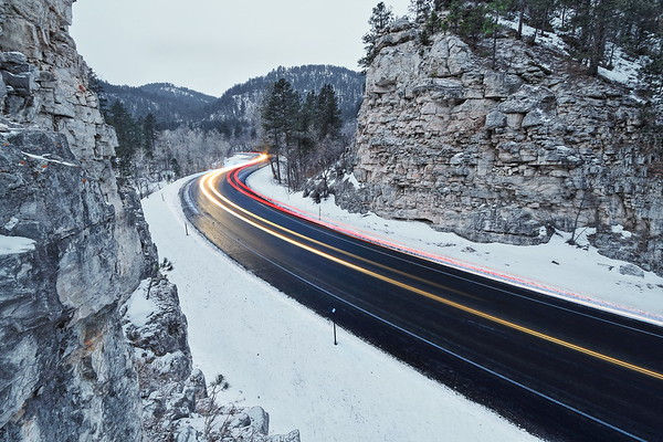 Traffic in Spearfish Canyon