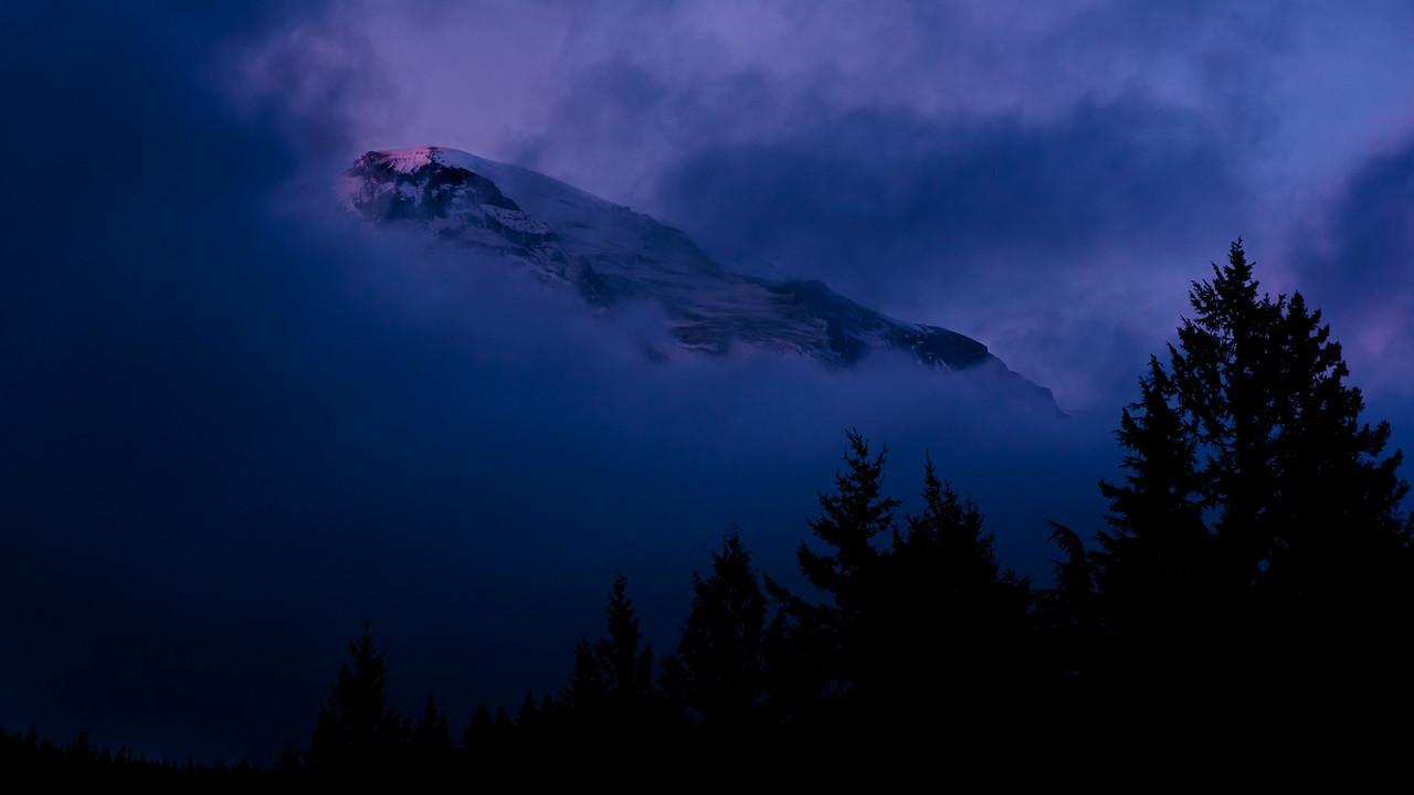 Some days Mt Rainer prefers to hide away.  Washington 2015.