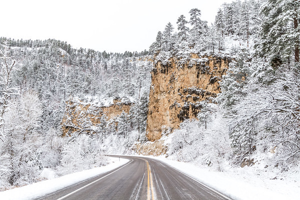 Fresh snow in Spearfish Canyon