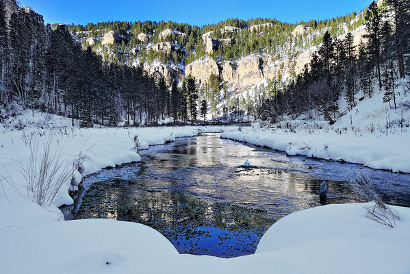 Snow in Little Spearfish Canyon