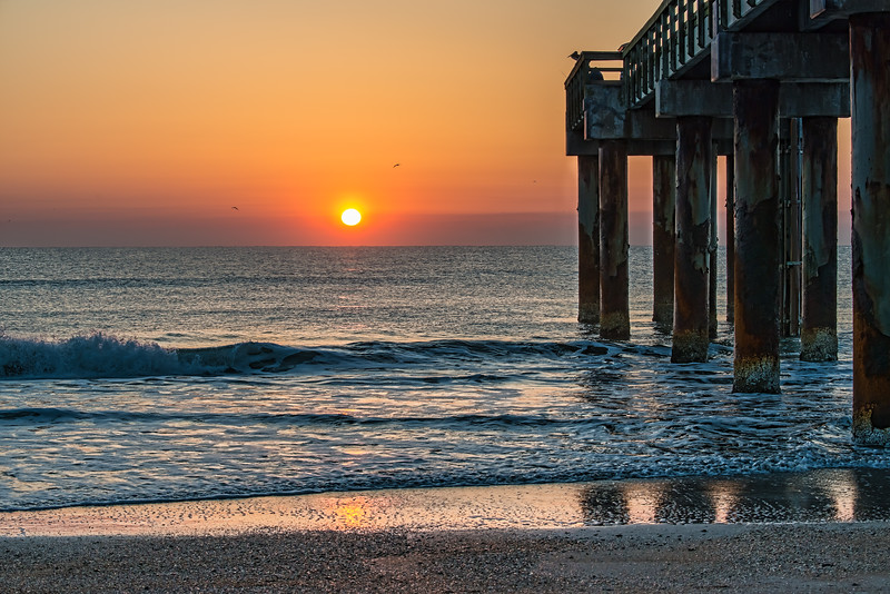 Sunrise at the St Augustine Pier